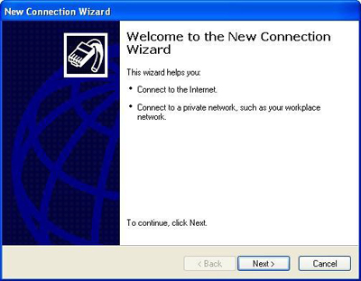 New Connection Wizard.