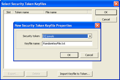 Set the Keyfile Name or you can leave the default and select
