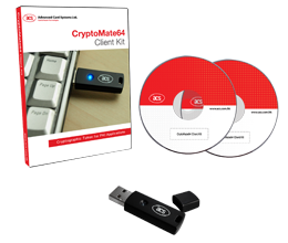 Cryptomate Smart Card Readers - CryptoMate64 Client Kit |  ACS